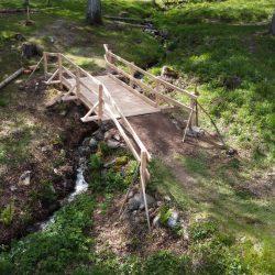 Neue Brücke auf der Bike Strecke